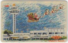 SINGAPORE B-973 Magnetic SingTel - Occasion, Christmas - 18SIGA - Used - Singapour