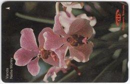 SINGAPORE B-976 Magnetic SingTel - Plant, Flower, Orchyd - 11SIGE - Used - Singapur