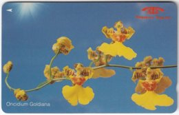 SINGAPORE B-977 Magnetic SingTel - Plant, Flower, Orchyd - 11SIGD - Used - Singapour