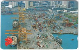 SINGAPORE B-999 Magnetic SingTel - View, Harbour - 7SIGB - Used - Singapur