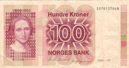 BILLET NORVEGE De 1991 - 100 KRONER - Pick N° 43d - Cahilla Collett - Noorwegen