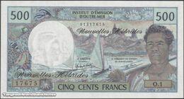 TWN - NEW HEBRIDES 19c - 500 Francs 1979 Prefix O.1 UNC - Andere - Oceanië