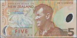 TWN - NEW ZEALAND 185c - 5 Dollars 2014 Polymer - Prefix AM - Signature: Wheeler UNC - New Zealand