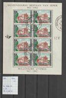 België 1962 - Yv. Blok 33 Gest./obl./used - Blocks & Sheetlets 1962-....