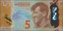 TWN - NEW ZEALAND 191 - 5 Dollars 2015 Polymer - Prefix BL - Signature: Wheeler UNC - New Zealand