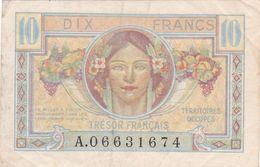 BILLET FRANCE 10 FRANCS TRESOR FRANCAIS 1947 Troupes Françaises Stationnés En Allemagne Et Autriche à La Fin De WW2 - Schatkamer