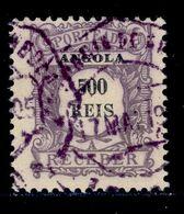 ! ! Angola - 1904 Postage Due 500 R - Af. P 10 - Used - Angola