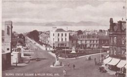 AYR - BURNS STATUE SQUARE @ MILLER ROAD - Ayrshire
