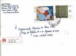 TIMBRES - STAMPS - FRANCOBOLLI - SELLOS - MARCOPHILIE - LETTRE RÉCOMMANDÉ - MARCOPHILIE - PORTUGAL - TIMBRES DIVERS - 1910 - ... Repubblica