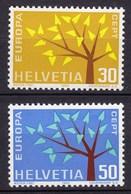 Schweiz Mi. 756-757 Postfrisch Europa 1962  (11287 - Zwitserland