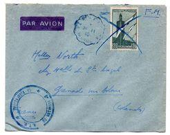 MAROC-1940--lettre De ???? Pour GRENADE / ADOUR-40 (France)---timbre Seul Sur Lettre..cachet + Cachet Militaire - Cartas