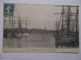 CPA CP 22 CÔTES D'ARMOR 1908 PAIMPOL - LE BASSIN NEUF ET L'ÉCLUSE / NAVIRES / GOÉLETTES - ED RENAULT BON ETAT - Paimpol