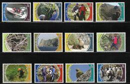 2010 Tristan Da Cunha Nature Protection Definitives: Birds, Rockhopper Penguin, Seal, Island Views Set (** / MNH / UMM) - Birds