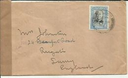MALAYA 1940 CENSORDE COVER TO UK - Johore