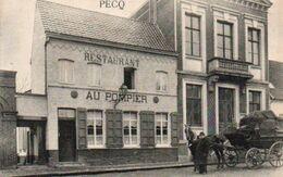 Pecq Restaurant Au Pompier Attelage N'a Pas Circulé - Pecq
