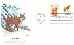 (E 17) USA - FDC - 1978 - Red Fox - Sobre Primer Día (FDC)