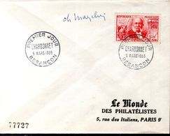LETTRE 1ER JOUR FRANCE 1956 - CHARDONNET - SIGNEE PAR LE GRAVEUR, CHARLES MAZELIN - - Andere