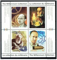 2000 Millenium Series  Inventors Bell, Bombardier, Klein, Gesner Sheet Of 4 Different Sc 1832  MNH - Unused Stamps