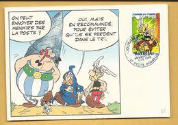 Carte Max. Journée Du Timbre ASTERIX 1999 Petite Rosselle - Maximum Cards