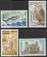 France 1972  Sc#1334, 1337, 1338-9  4 Diff With Nature Protection Set   MLH  2016 Scott Value $6.20 - Unused Stamps