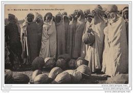 Marché Arabe Marchands De Kabouias (Courges) - (éditeur Dreyfuss Frères à Aumale - Algérie) - Scenes