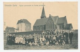 VIESVILLE SARTS - Eglise Paroissiale Et Ecoles Primaires - Pont-à-Celles