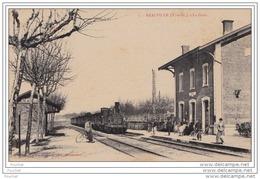 82) REALVILLE  (Tarn Et Garonne) La Gare   - (animée - Train) - Realville