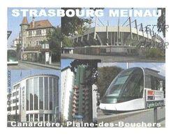 STRASBOURG BAS RHIN - STADE DE FOOTBALL, METRO, LE MATHIS.... PAP ENTIER POSTAL FLAMME  LA POSTE 2008, VOIR LES SCANNERS - Vacaciones & Turismo