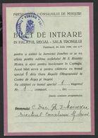 RAR.RAR.RAR.ROYALTY--ROMANIA--1938--- ENTRY TICKET IN THE ROYAL PALACE. FUNERALS OF QUEEN MARIA. - Romania