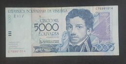 RS - Venezuela 5000 Bolivares Banknote 2004 #C75981014 - Venezuela