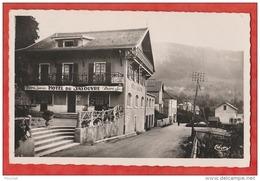 N4- 74) MONT SAXONNEX (HAUTE SAVOIE) Alt. 1000. M. HOTEL DU JALOUVRE  - (BIERE JORCIN - OBLITERATION DE 1950 - 2 SCANS) - Other Municipalities