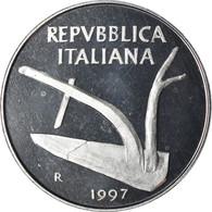 Monnaie, Italie, 10 Lire, 1997, Rome, Proof, FDC, Aluminium, KM:93 - 10 Lire