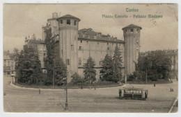 C.P.  PICCOLA   TORINO   PIAZZA  CASTELLO  --  PALAZZO   MADAMA       2 SCAN  (VIAGGIATA) - Places & Squares