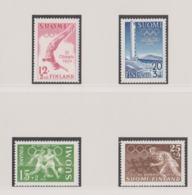 Finland 1952 Helsinki Olympic Games 4 Stamps MNH/** (H62) - Sommer 1952: Helsinki