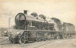 CPA Train - 503B - Locomotives Du Sud-Est (ex P.L.M ) - Machine N° 141 C 180, Type Mikado - Oullins - Oullins