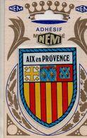 REF 508 CPA Blason Adhésif Métalisé Autocollant NEM Aix En Provence - Aix En Provence