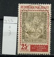 Madagascar - Madagaskar 1966 Y&T N°422 - Michel N°554 (o) - 25f Journée Du Timbre - Madagascar (1960-...)