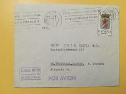 1965 BUSTA INTESTATA SPAGNA ESPANA BOLLO COAT OF ARMS STEMMI STEMMA ANNULLO OBLITERE' BARCELONA - 1931-Today: 2nd Rep - ... Juan Carlos I