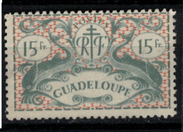 GUADELOUPE            N°  YVERT  :   195 ( 1)  OBLITERE       ( Ob   7/ 61 ) - Guadeloupe (1884-1947)
