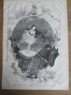 1873 Une Soirée Au Cirque Cheval élevage    CHIARINI   , Petite Fille De Mme Saqui   Dessin Edmond Morin - Unclassified