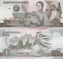 North Korea 1992 - 1 Won - Pick 39 UNC - Korea, Noord