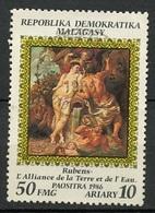 Madagascar - Madagaskar 1986 Y&T N°769 - Michel N°1016 (o) - 50f œuvre De Rubens - Madagascar (1960-...)