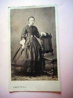 PHOTO CDV 19 EME Jeune FEMME CHIC   MODE  Cabinet MARTIN  A LIMOGES - Oud (voor 1900)