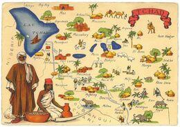CPSM TCHAD - Série Carte Géographique BARRE DAYEZ N° 1326-Q - Dépot 1942 - Tchad