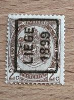250A Liège 1899 Sans Bandelette TB - Precancels