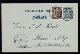 Ziffer 2 Pfg. Mit Zusatzfrankatur Mit K3 WILHELMSDORF 27.1.02 Nach Berlin, - Wurttemberg