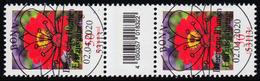 3535 Zinnie 50 Cent Aus 200er-Rolle, Paar Mit Nr., Mit CF, Ohne Nr. ESSt Bonn - BRD
