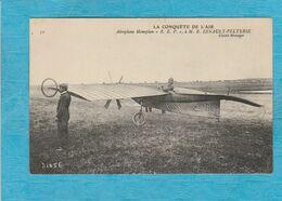 La Conquête De L'Air. -  Aéroplane Monoplan '' R. E. P. '' à M. R. Esnault-Pelterie. - Aviateurs