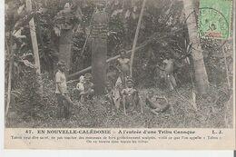 NOUVELLE CALEDONIE. CPA  Voyagée En 1905 A L'entrée D'une Tribu Canaque Tabou Veut Dire Sacré - New Caledonia