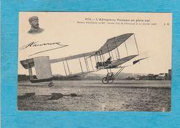 L'Aéroplane Farman En Plein Vol. - Aviateurs